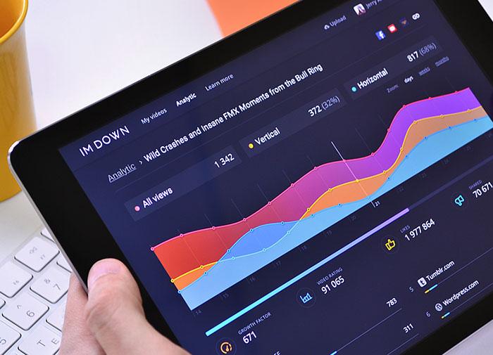 二维码营销系统数据分析界面