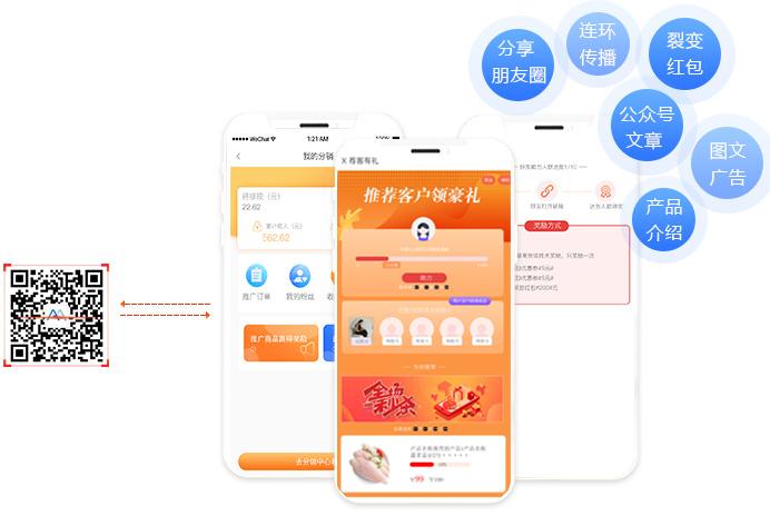 二维码营销平台实现产品促销